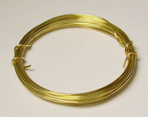 Coil Jewelers Brass 43 Ft 18 Ga Solid Red Brass Soft Round Wire 3 Oz