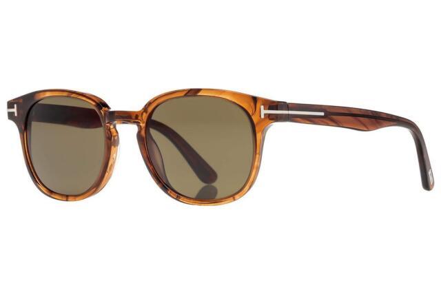 ab032b9706681 Tom Ford FRANK FT 0399 48B Shiny Dark Brown Sunglasses Sonnenbrille 59mm