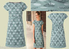 New White Stuff Mint Green Daisy Spot Poplin Summer Tunic Tea Dress Vintage