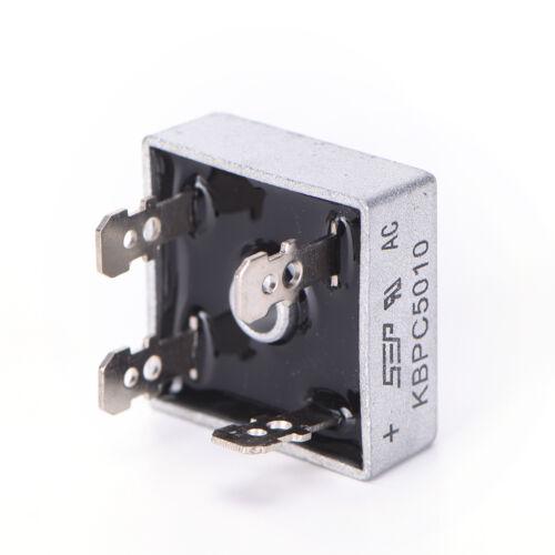 2x  KBPC5010 50A 1000V Metal Case Single Phases Diode Bridge Rectifier Nic RA