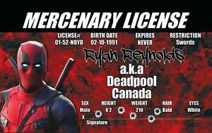 Deadpool-ID-Card-Plastic-Collectors-Card-Marvel-Comics-prop-costume-cosplay