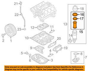 vw volkswagen oem 11 15 touareg engine oil filter 06e115562c ebay rh ebay com