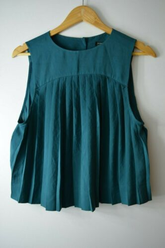 Top Teal Uk6 Pleated Allsaints Pleated Uk6 Teal Allsaints Top 0qxCP1w6