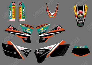 TEAM-GRAPHICS-amp-BACKGROUND-DECALS-FOR-KTM-EXC-125-200-250-300-400-450-525-2004-Y