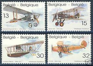 Belgium**Historic PLANES-4vals-Avions-Flugzeuge-Vliegtuig-2543/46-Aviation-1994