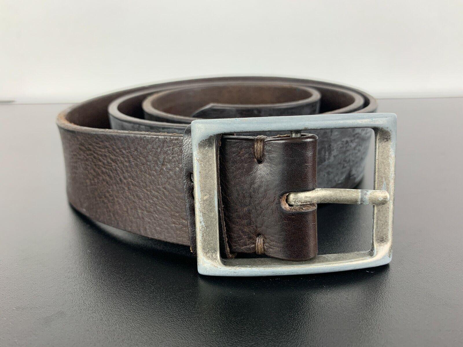 JOOP! Made in Austria Vintage Ledergürtel Genuine Leather Belt Braun Brown 105