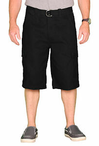 OTB-Men-039-s-Belted-Solid-Cotton-Twill-Cargo-Short