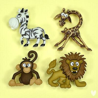 Jungle Animal Themed Buttons Safari see Listings