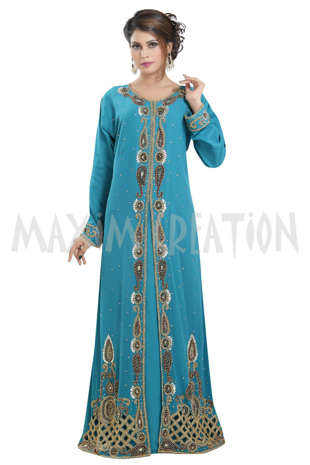 DUBAI BRIDAL MgoldCCAN FANTASY WEDDING GOWN PARTY PARTY PARTY WEAR HAND EMBROIDERY DRESS 6510 0a3827