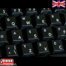 English UK Transparent Keyboard Stickers With White Letters for Laptop Computer
