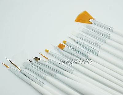 15pcs Nail Art Brushes Design Gel Painting Dot Pen Polish Set Tool Kit Brush New