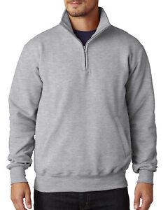 Champion-Mens-9-oz-Double-Dry-Eco-Quarter-Zip-Pullover-S400-S-3XL-Sweatshirt