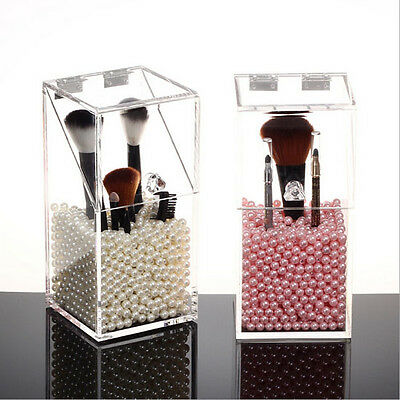New Acrylic Cosmetic Makeup Brush Organizer Display Stand Case