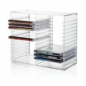 CD-Storage-Box-Rack-Holder-Stacking-Tray-Shelf-DVD-Disk-Case-Space-Organizer-New