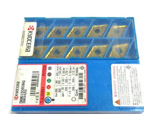 10 Wendeplatten zum Drehen DNMG 150608HQ PV7020 von Kyocera Neu L20579