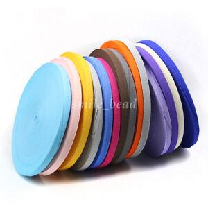 Chic-Cotton-Binding-Tape-Bias-Ribbon-Strap-Sewing-Webbing-Trimming-1cm-19-Colors