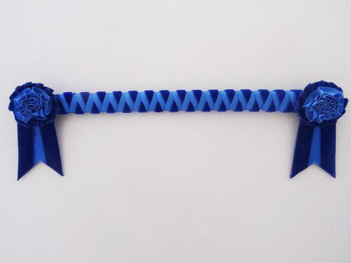 Blue standard Cornerstone Browband £18.50 showing velvet browband