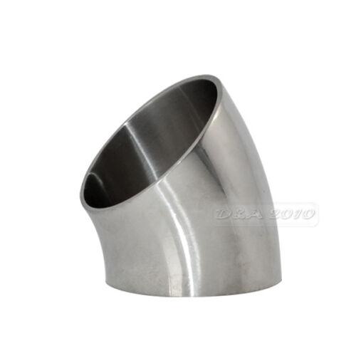 φ57 57mm 2/'/' Sanitary Weld Elbow Pipe Fitting 45 Degree Stainless Steel 304