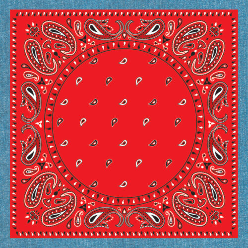 6 BANDANNA STYLED COASTERS  WESTERN COWBOY WILD WEST PARTY DECORATION 6-3C
