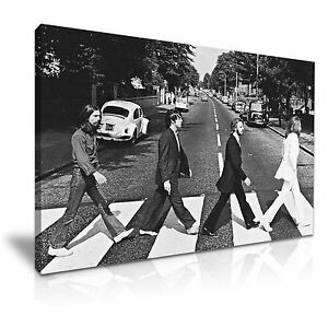 The Beatles Abbey Road Canvas Wall Art Picture Print 76cmx50cm