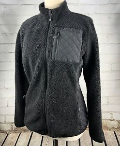 Vineyard Vines Sea View Sherpa Fleece Jacket Black Full