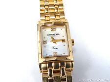 Raymond Weil Tango White Mother of Pearl 5970 18k Yellow Gold Rectangular Watch
