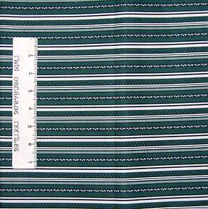Calico-Fabric-Summer-Journal-Dark-Green-Stripe-Benartex-YARD