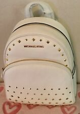 225894c88 item 3 Michael Kors Abbey Medium Studded Pebbled Leather Backpack Optic  White / Gold -Michael Kors Abbey Medium Studded Pebbled Leather Backpack  Optic White ...