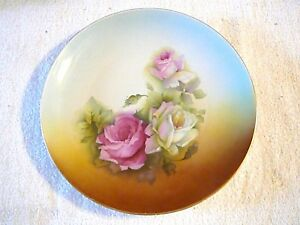 """Antique Décoratif Og Allemagne, Floral 11 7/8"""" Wide Plaque/plateau, Grand Objet-afficher Le Titre D'origine Veu2sq2r-08003106-669786622"""
