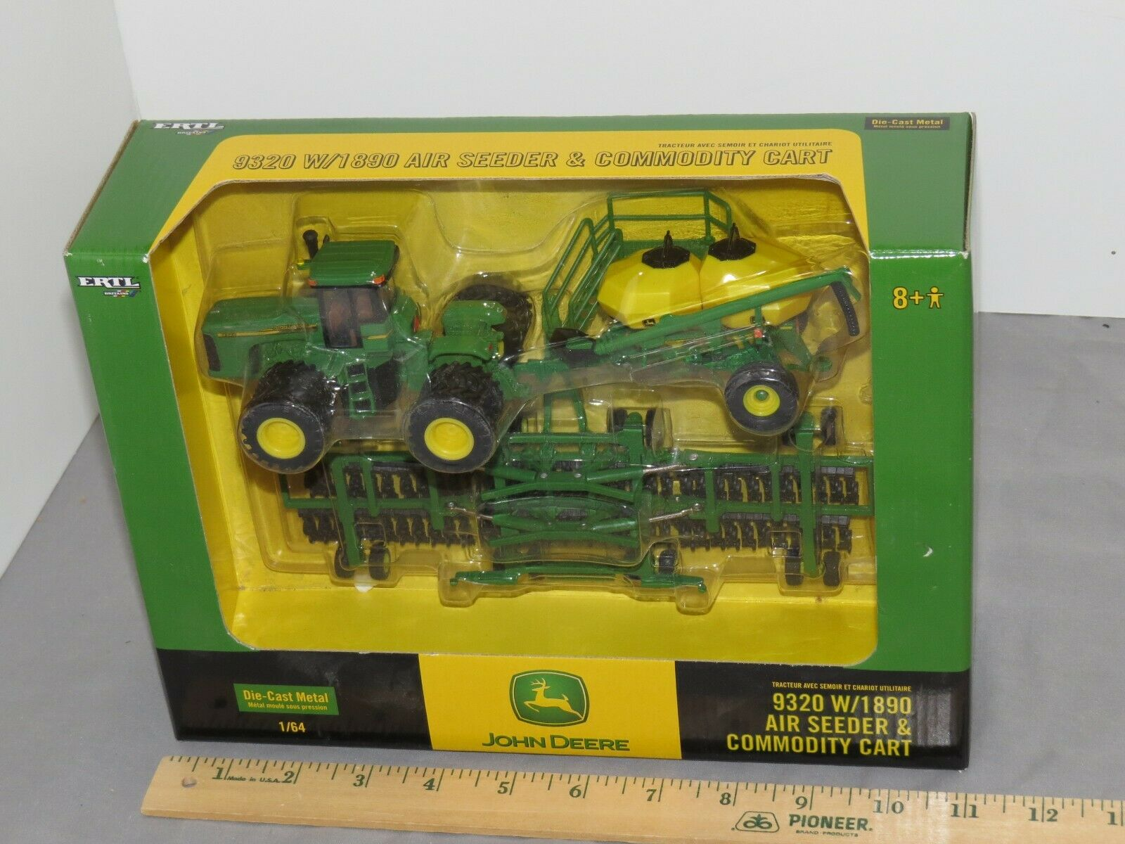 John Deere 9320 W  1890 Air Seeder And Commodity Cart 1 64 NIB RARE  Set ERTL