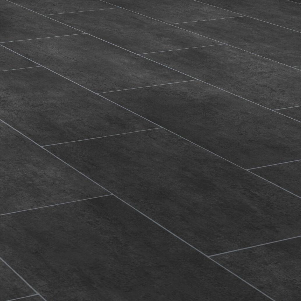 PVC Bodenbelag Tarkett 260 Melbourne schwarz Fliese schwarz alle Breiten   m²