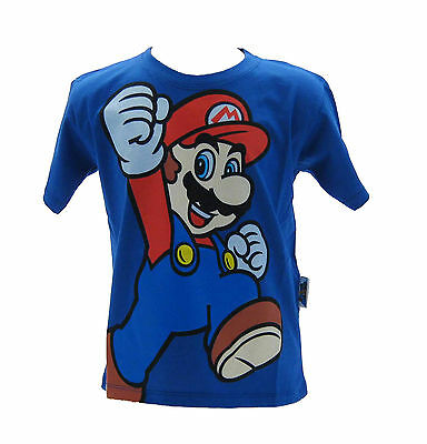 Other Reliable T-shirt Super Mario Bros Blu Royal To Help Digest Greasy Food