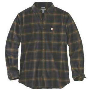 best service look for incredible prices Details about Carhartt 103314C - Rugged Flex Hamilton Plaid Flannel Shirt -  Army Green 301