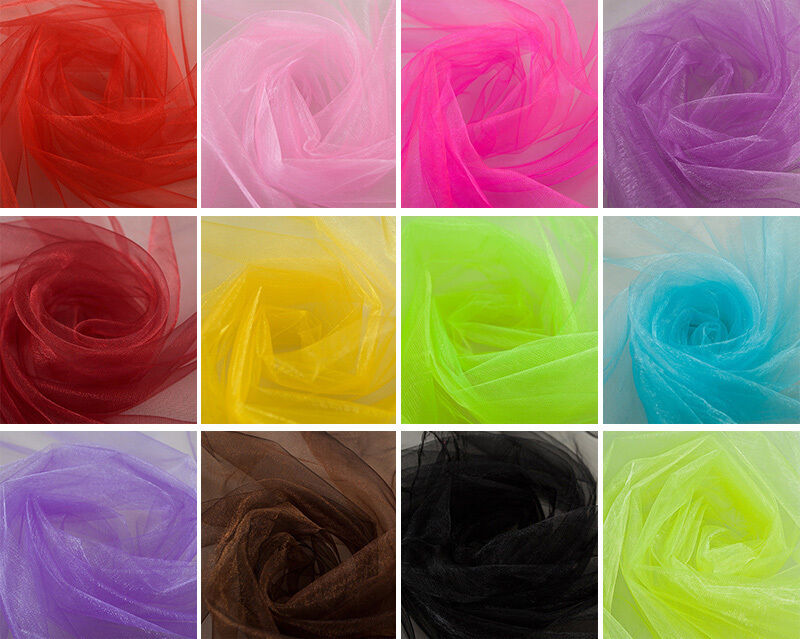 50 Yards Organza Fabric 60  Wide High Quality Sheer Draping Party Wedding USA