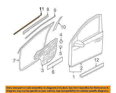 NISSAN OEM 80820ET000 Door Moulding-Belt Molding 80820-ET000