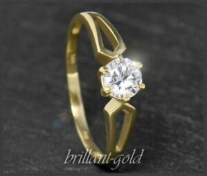 Diamant-Solitaer-585-Gold-Brillant-Ring-0-485ct-IGI-Zertifikat-14-Karat-Neu