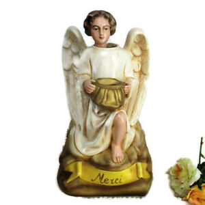 Antique Statue Angel French Missionary Money Box Piggy Bank
