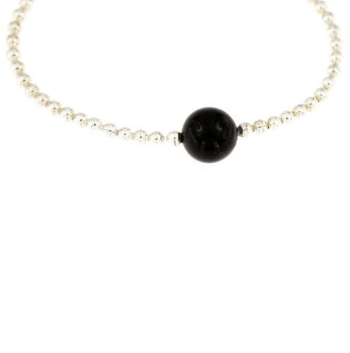 Armband 925 Silber mit Edelstein Amethyst Onyx oder Tigerauge Rosenquarz