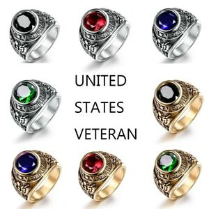 Fashion-Vintage-Mens-316L-Stainless-Steel-Veteran-Military-Ring-Jewelry-8-15-US