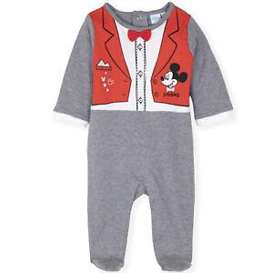 36ce04c0e805e5 Disney Topolino Bimbo Bambini Cotone Pagliaccetto Tutina Salopette ...