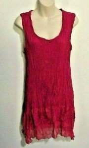 Details about Flower Brand Ladies PINK FUSCHIA Sleeveless TOP short DRESS Tunic NEW