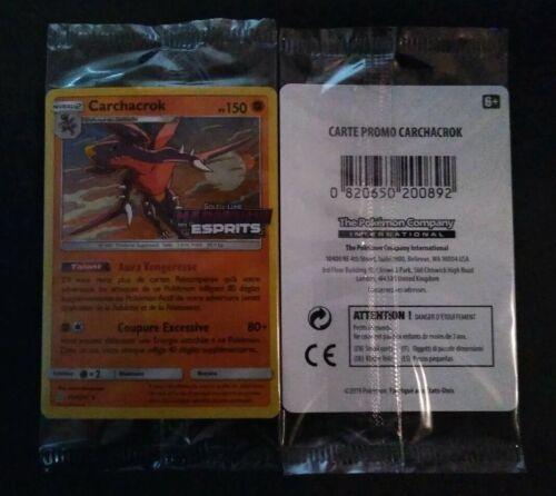 Carte Pokemon Carchacrok Prereleased Soleil/&Lune Harmonie des Esprits 114//236