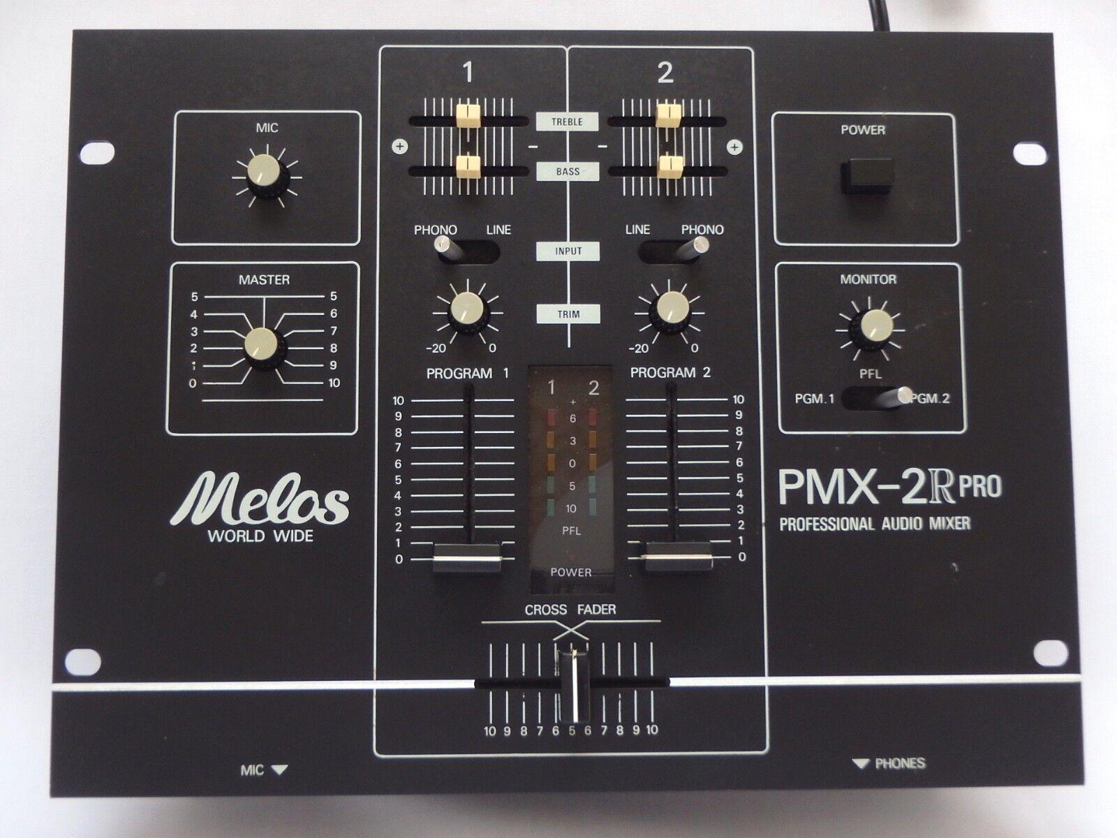 Melos PMX-2 R(S) Pro Professional Audio Mixer DJ Battle Mixer