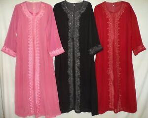 Image Is Loading Embroidered Beaded Sheers Wedding Eid Formal Abaya Long