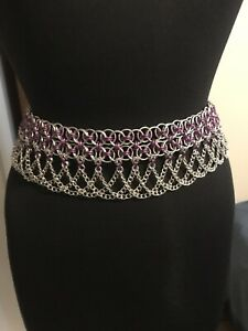 Chainmail-Belt-Cosplay-Purple-And-Silver