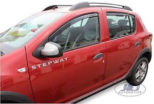 DACIA-SANDERO-STEPWAY-2012-pres-4-PORTE-Deflecteurs-d-039-air-Deflecteurs-4-pcs