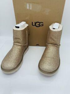 bb80607a6 UGG Women's Mini Bailey Bow Sparkle Gold Fashion Boots 9US 40EUR | eBay