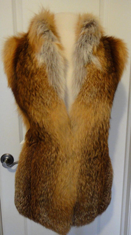 Red Fox  From Fur Vault Vest  CoatSz-S-MGorgeous