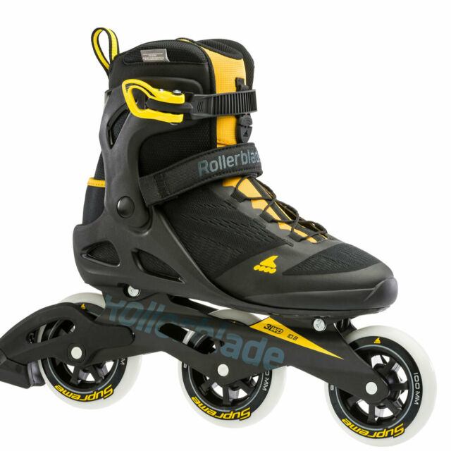 Black and Lime Rollerblade Macroblade 80 Mens Adult Fitness Inline Skate