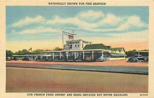Details About Houston Texas Christie S Seafood Restaurant Vintage Curteich Linen Postcard